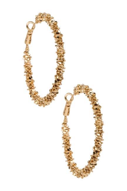 Image of Saachi Sophia Matte Gold Plated Hoop Earrings