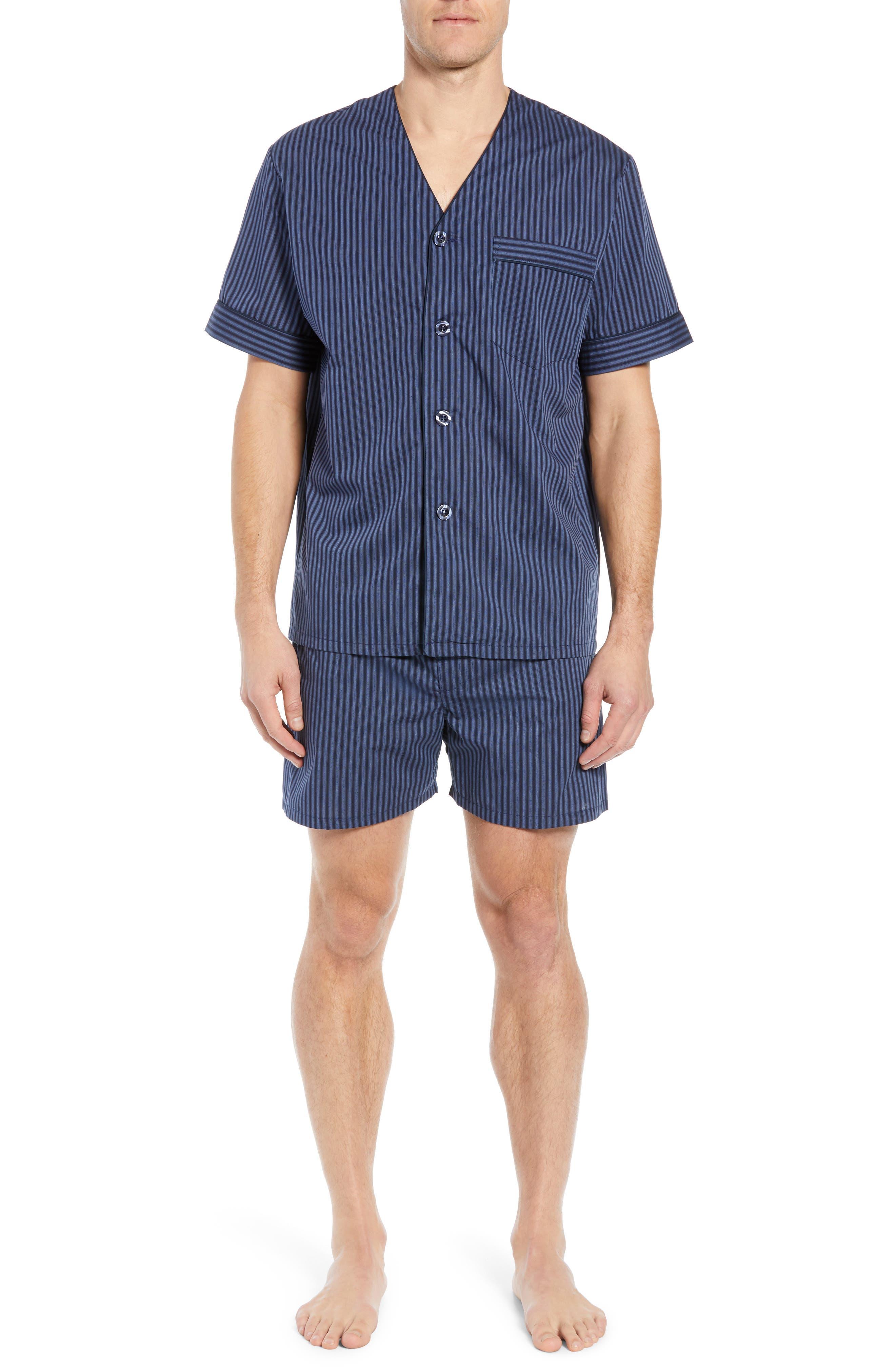 Majestic International Edward Easy Care Short Pajama Set, Blue