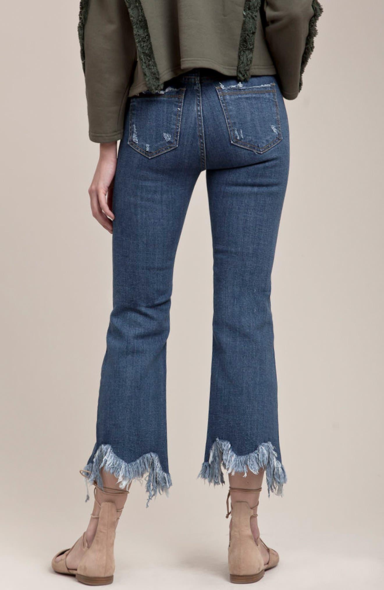 ,                             Frayed Hem High Rise Crop Jeans,                             Alternate thumbnail 15, color,                             436