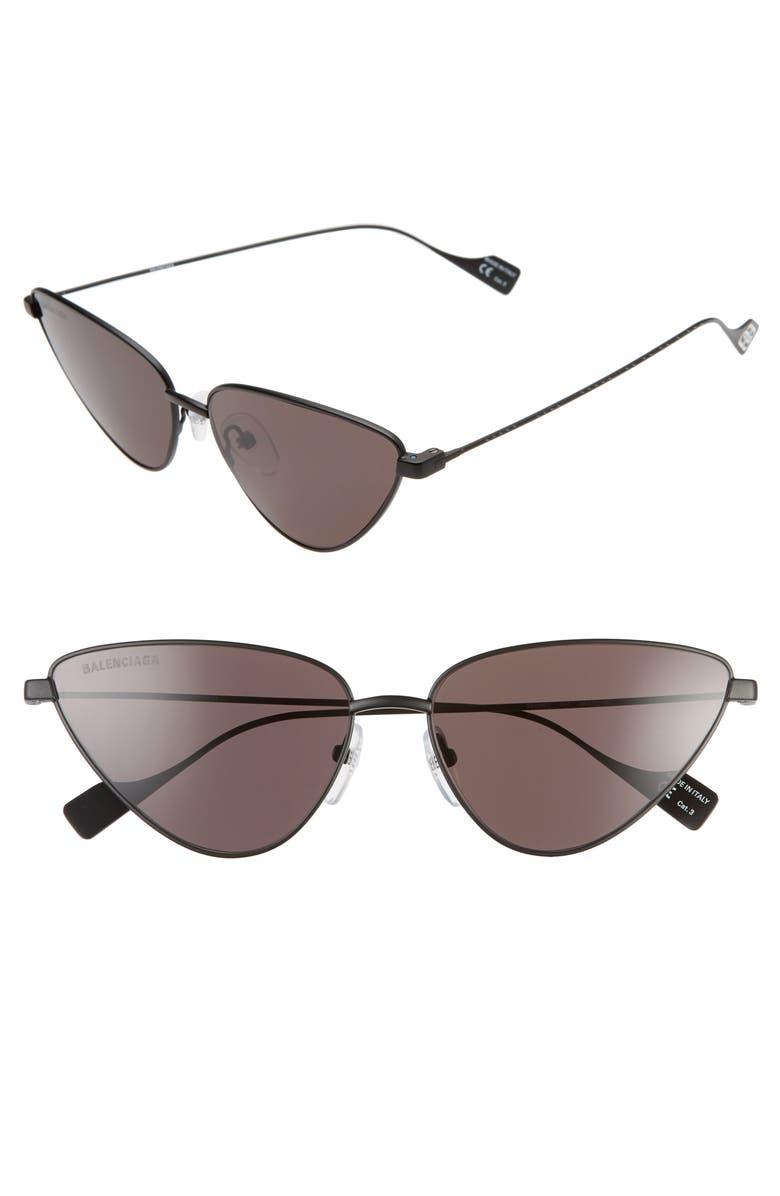 BALENCIAGA 59mm Cat Eye Sunglasses, Main, color, 001