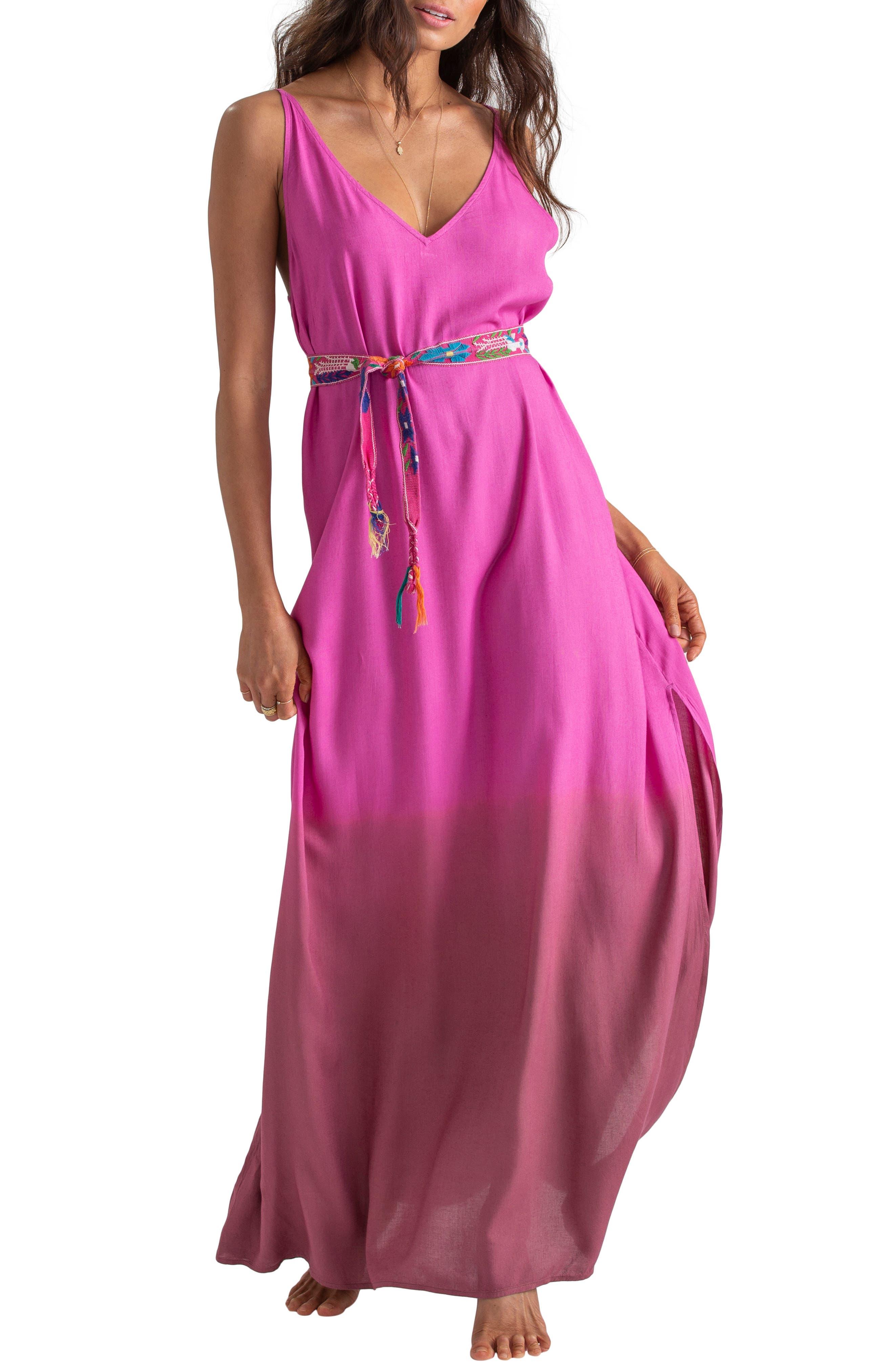 Billabong X Sincerely Jules High Point Maxi Dress, Pink