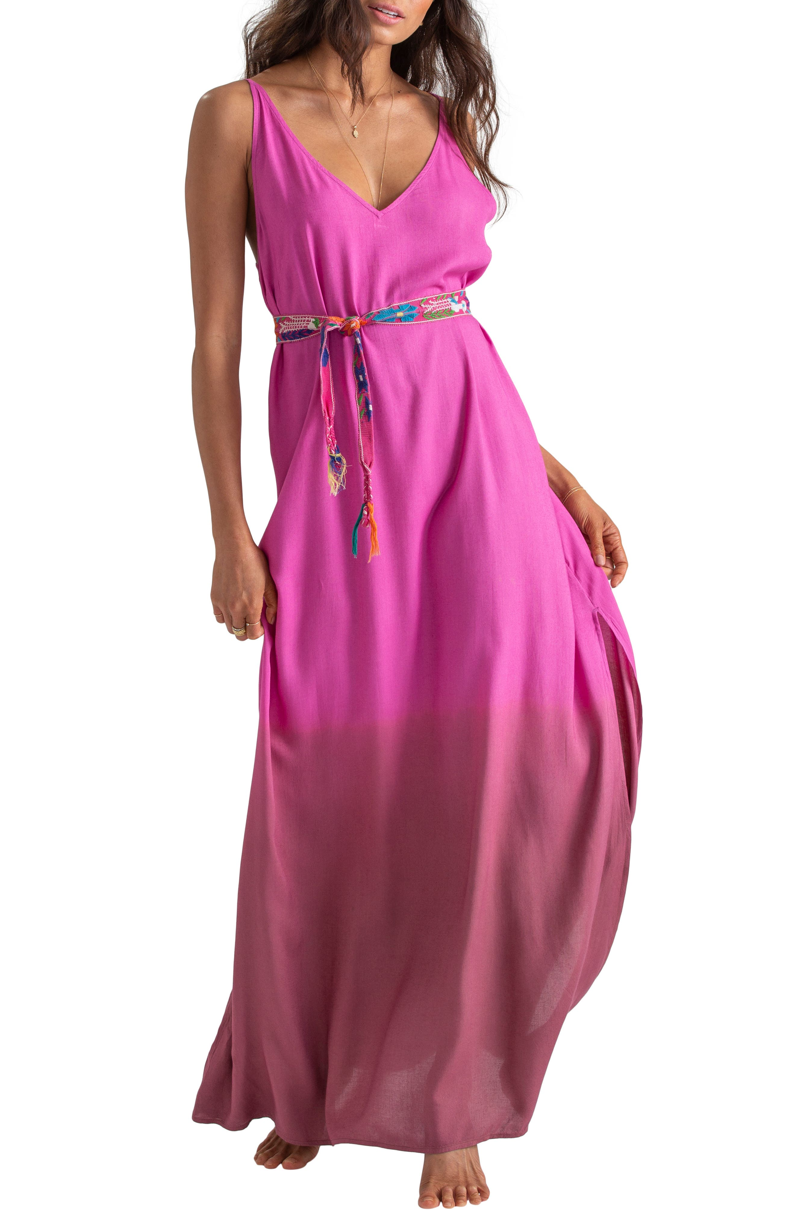 x Sincerely Jules High Point Maxi Dress, Main, color, ROSA