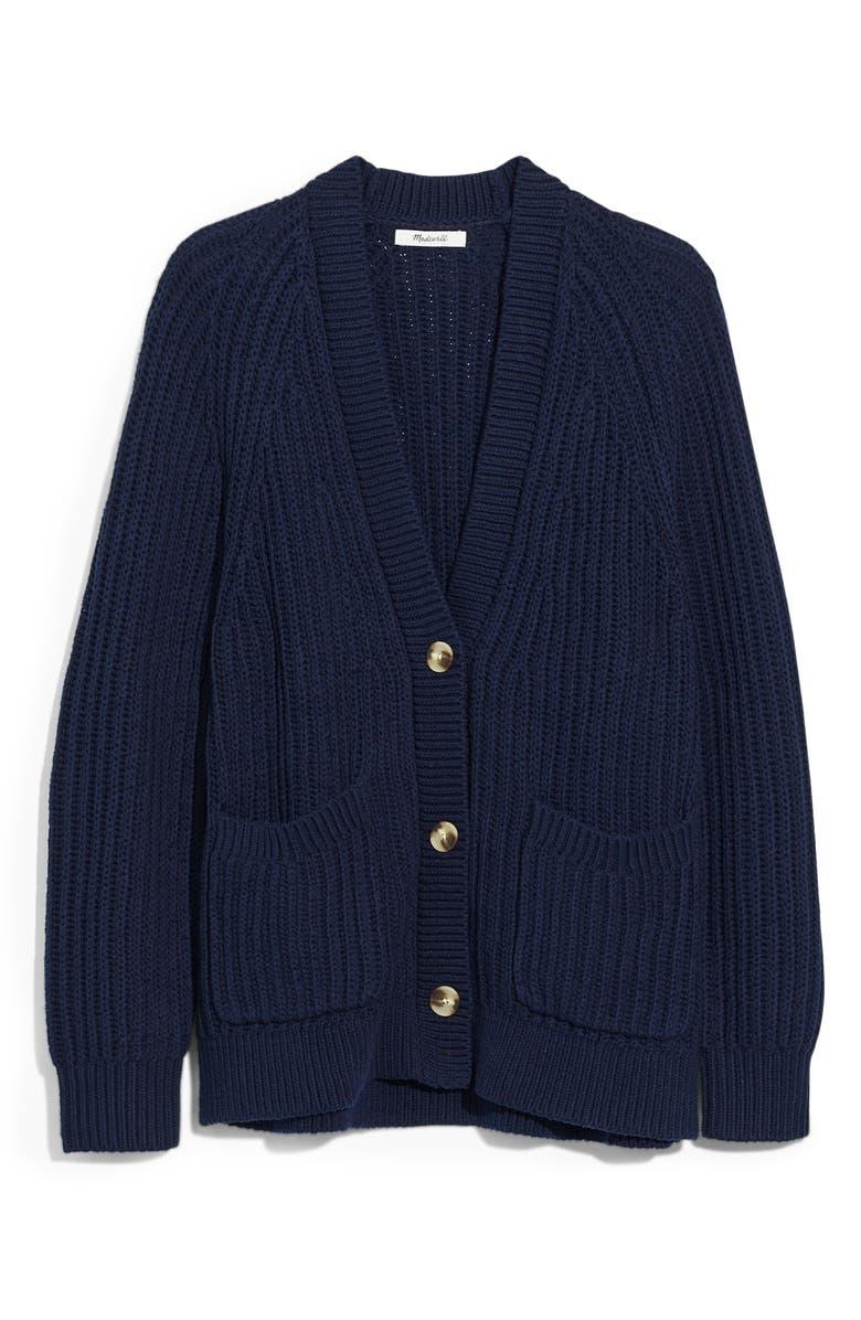 MADEWELL Murray Cardigan, Main, color, ROYAL BLUE