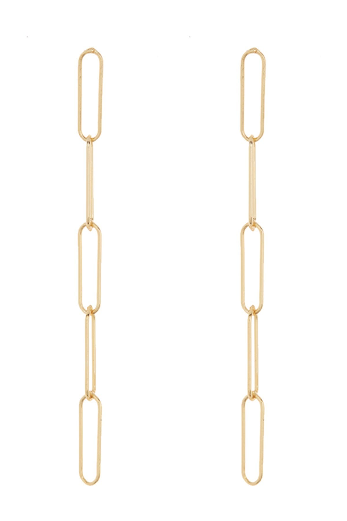 Image of ADORNIA 14K Yellow Gold Vermeil Paperclip Drop Earrings