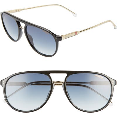 Carrera Eyewear 5m Aviator Sunglasses - Black/ Dark Blue Gradient
