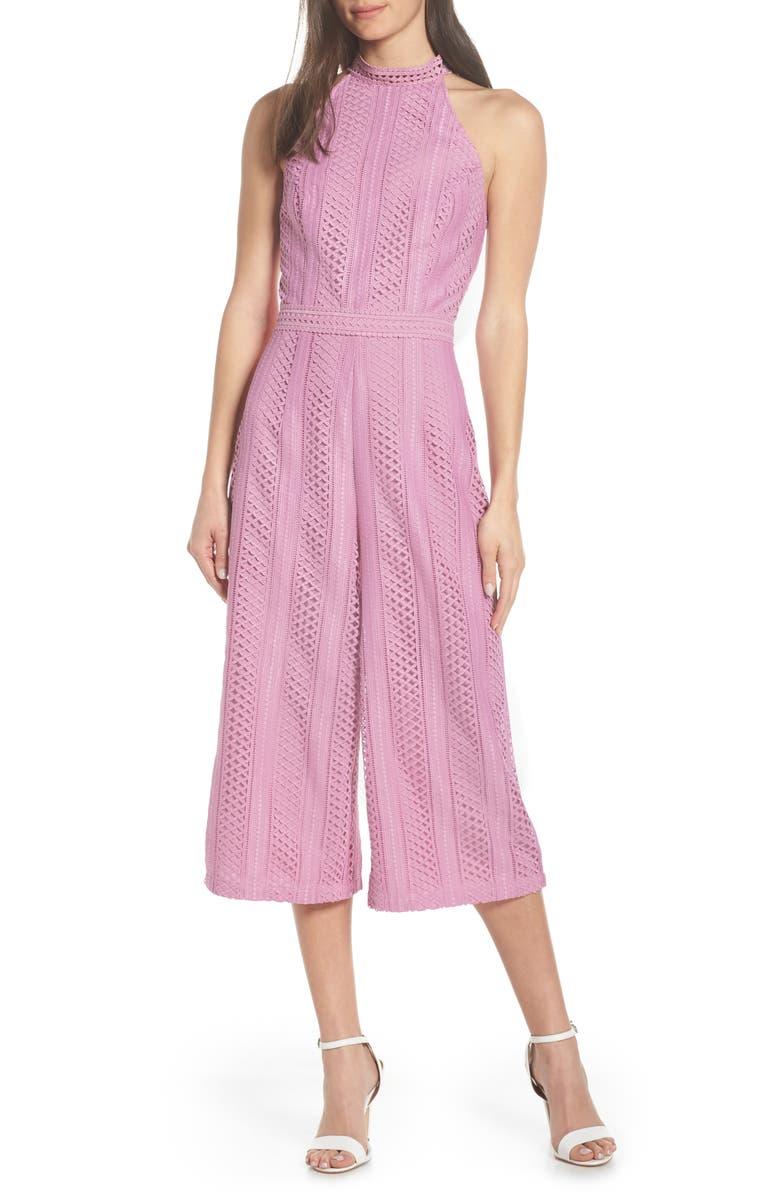 Chelsea28 Lace Crop Jumpsuit Nordstrom