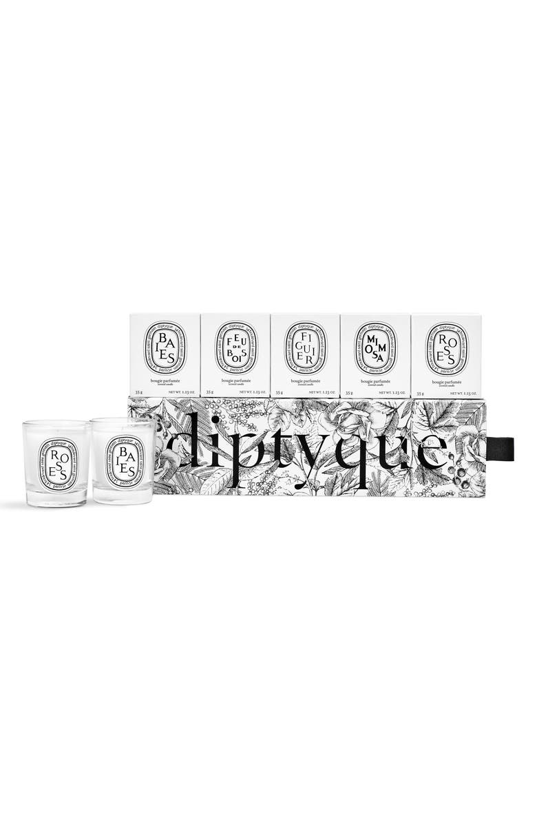 DIPTYQUE Set of 5 Travel Size Candles, Main, color, 000