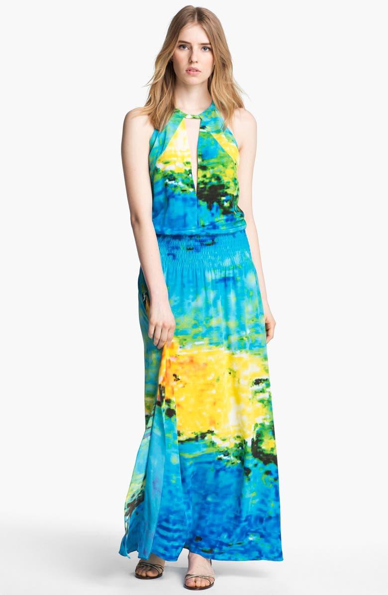 TRACY REESE Print Silk Maxi Dress, Main, color, 471