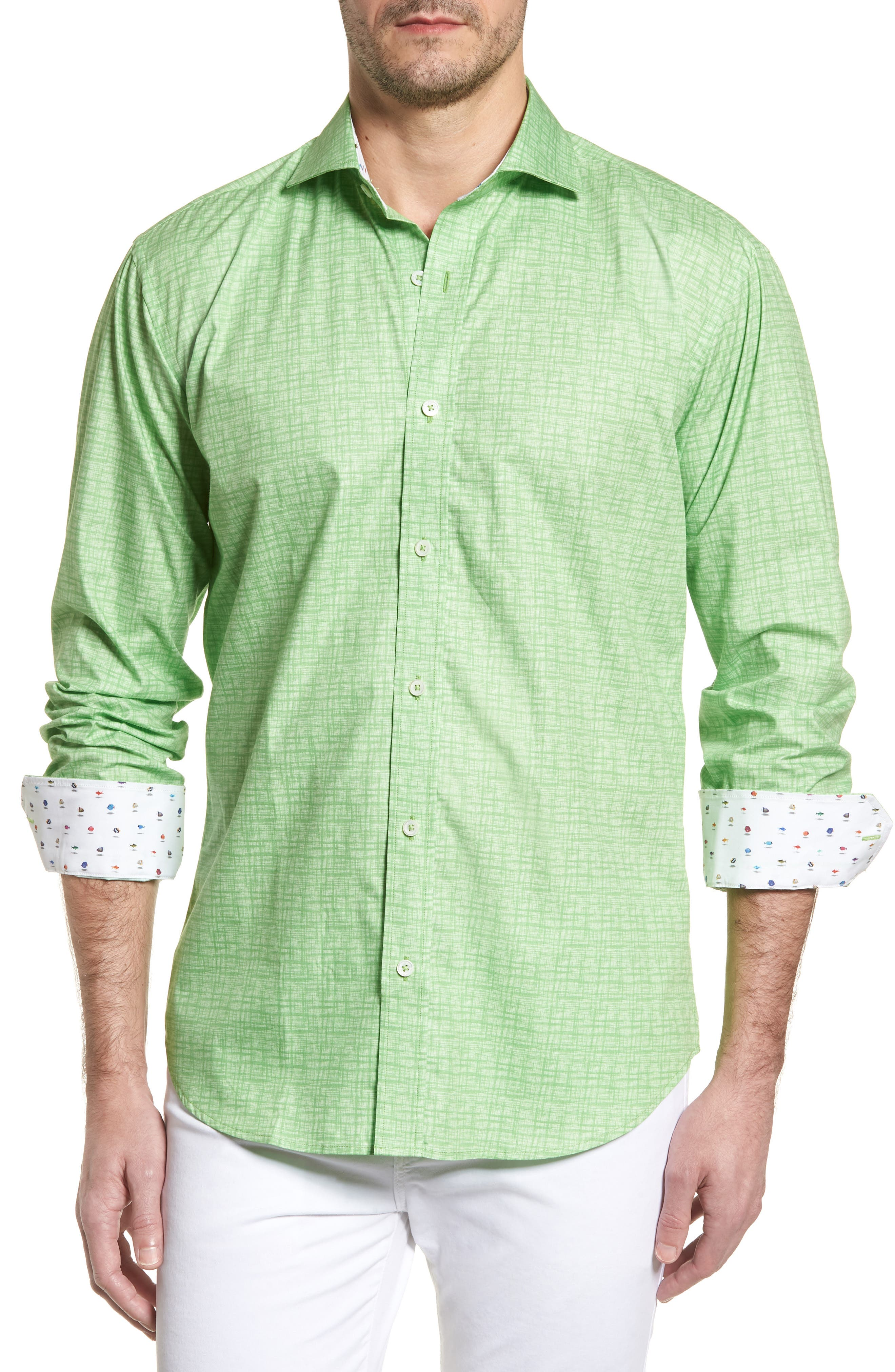 ,                             Shaped Fit Freehand Sport Shirt,                             Main thumbnail 13, color,                             329