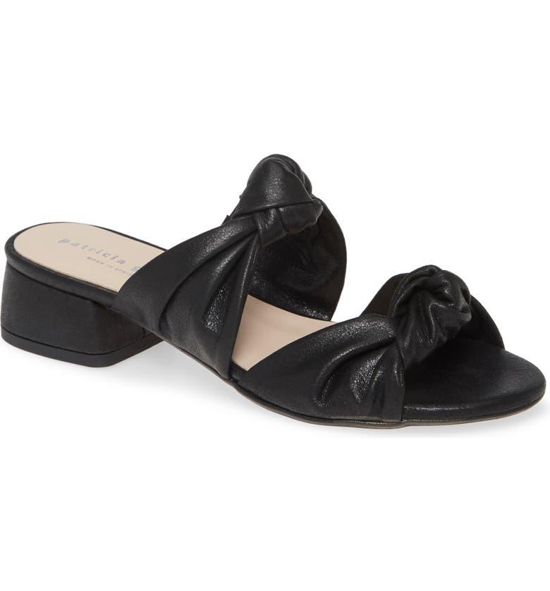 PATRICIA GREEN Bobbie Beaux Slide Sandal, Main, color, BLACK SUEDE