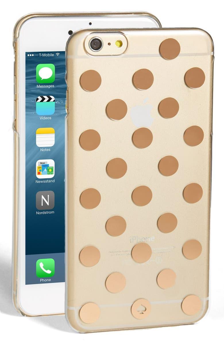 KATE SPADE NEW YORK 'le pavillion' iPhone 6 Plus & 6s Plus case, Main, color, CLEAR/ ROSE GOLD