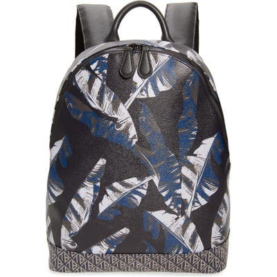 Ted Baker London Faux Leather Print Backpack - Blue
