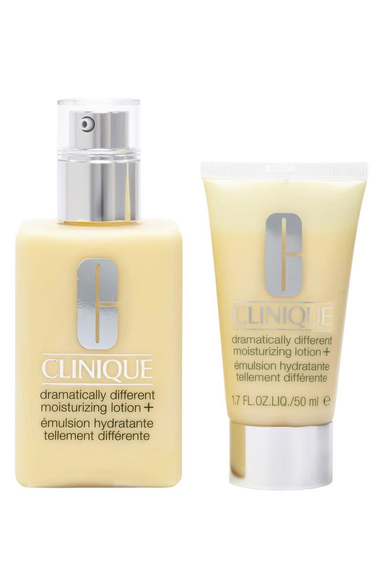 CLINIQUE 'Twice the Moisture' Lotion+ Duo, Main, color, 000