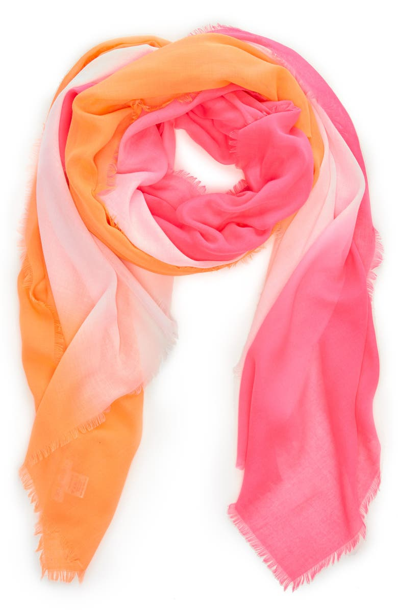 SOLE SOCIETY Colorblock Scarf, Main, color, PINK COMBO