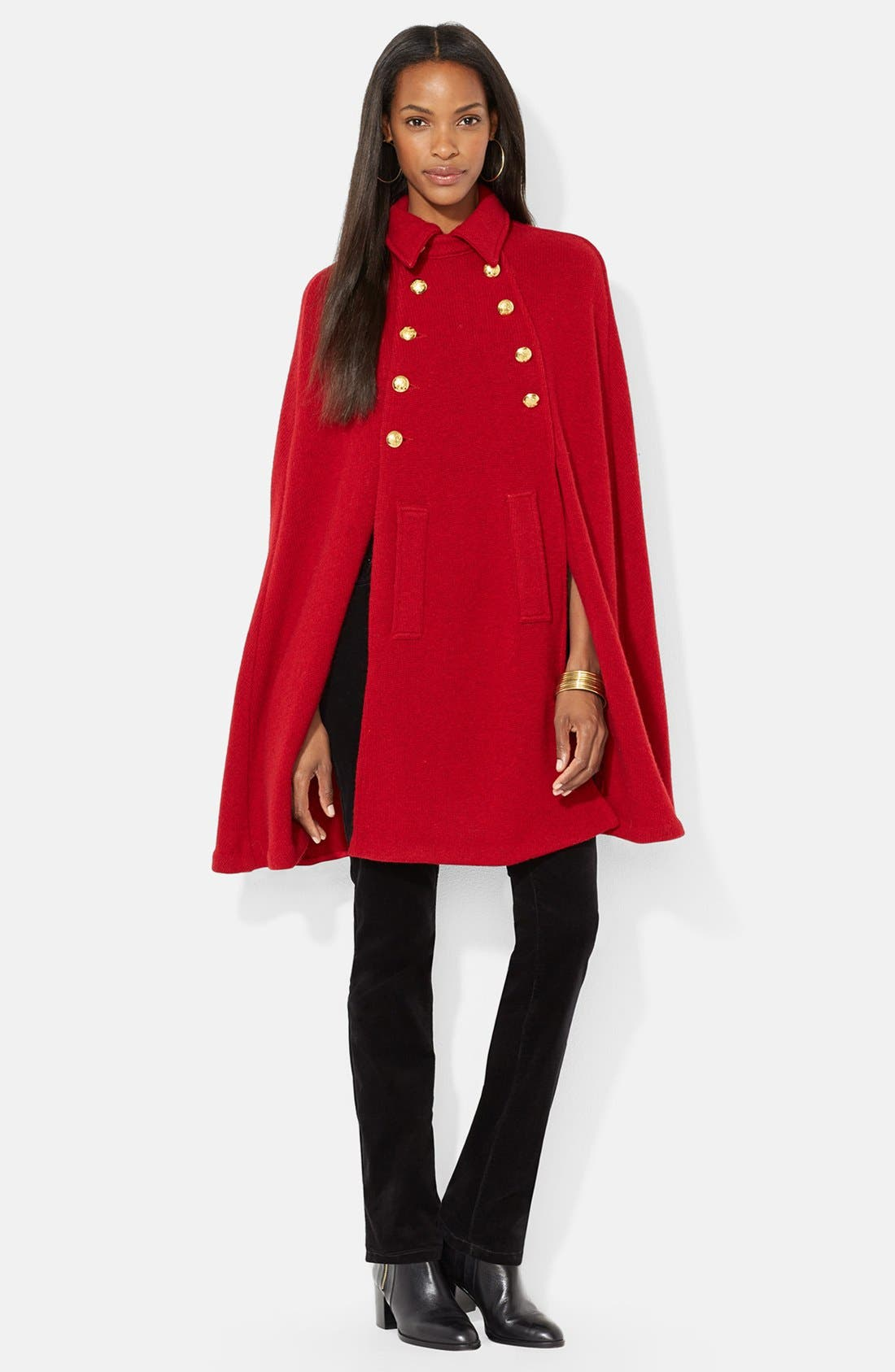 ,                             Sweater Knit Military Cape,                             Main thumbnail 1, color,                             603