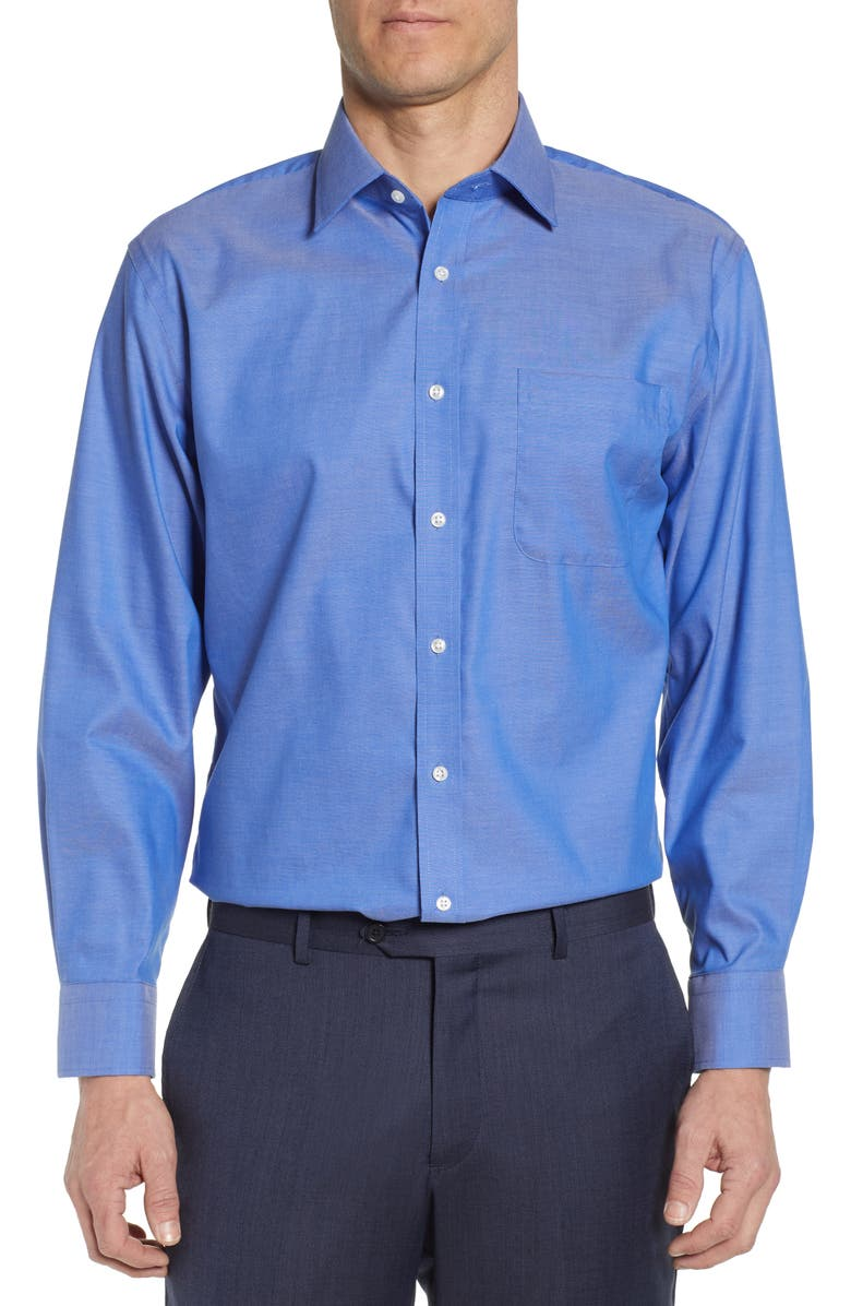 NORDSTROM MEN'S SHOP Traditional Fit Non-Iron Dress Shirt, Main, color, BLUE SURF