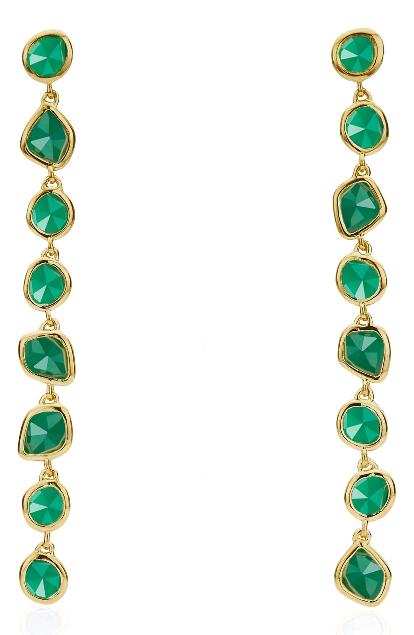 Inspired by the colors and coastline of Southern Italy, these delightful drop earrings feature roughly faceted semiprecious stones. Style Name: Monica Vinader Siren Mini Nugget Earrings. Style Number: 5509205. Available in stores.