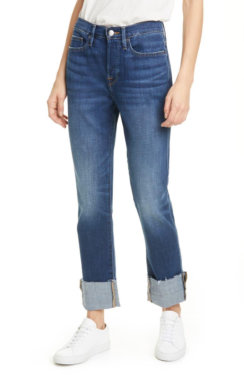 FRAME Le Beau Ankle Straight Leg Boyfriend Jeans, Main, color, 401
