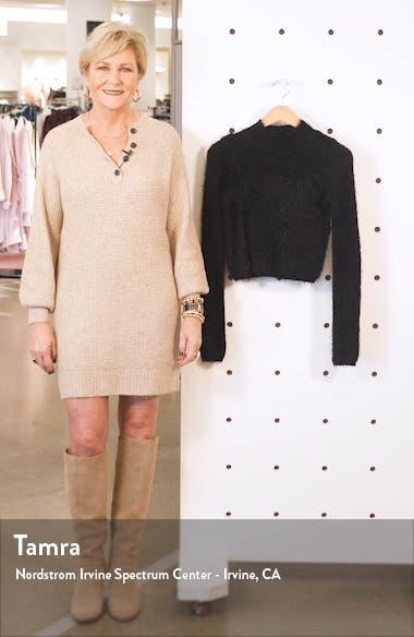 Mock Neck Crop Sweater, sales video thumbnail