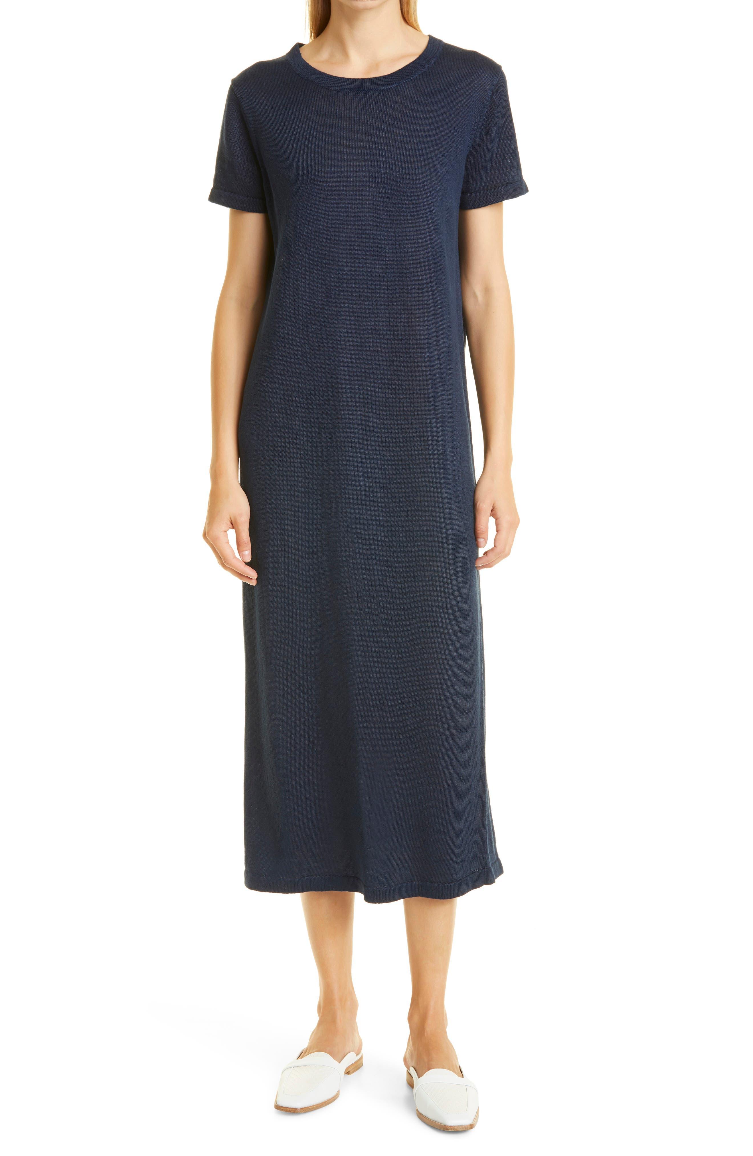 Linen T-Shirt Midi Dress