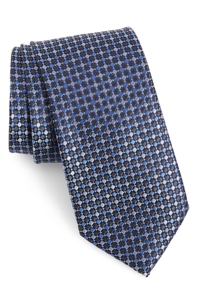 NORDSTROM MEN'S SHOP Litton Check Silk Tie, Main, color, 002