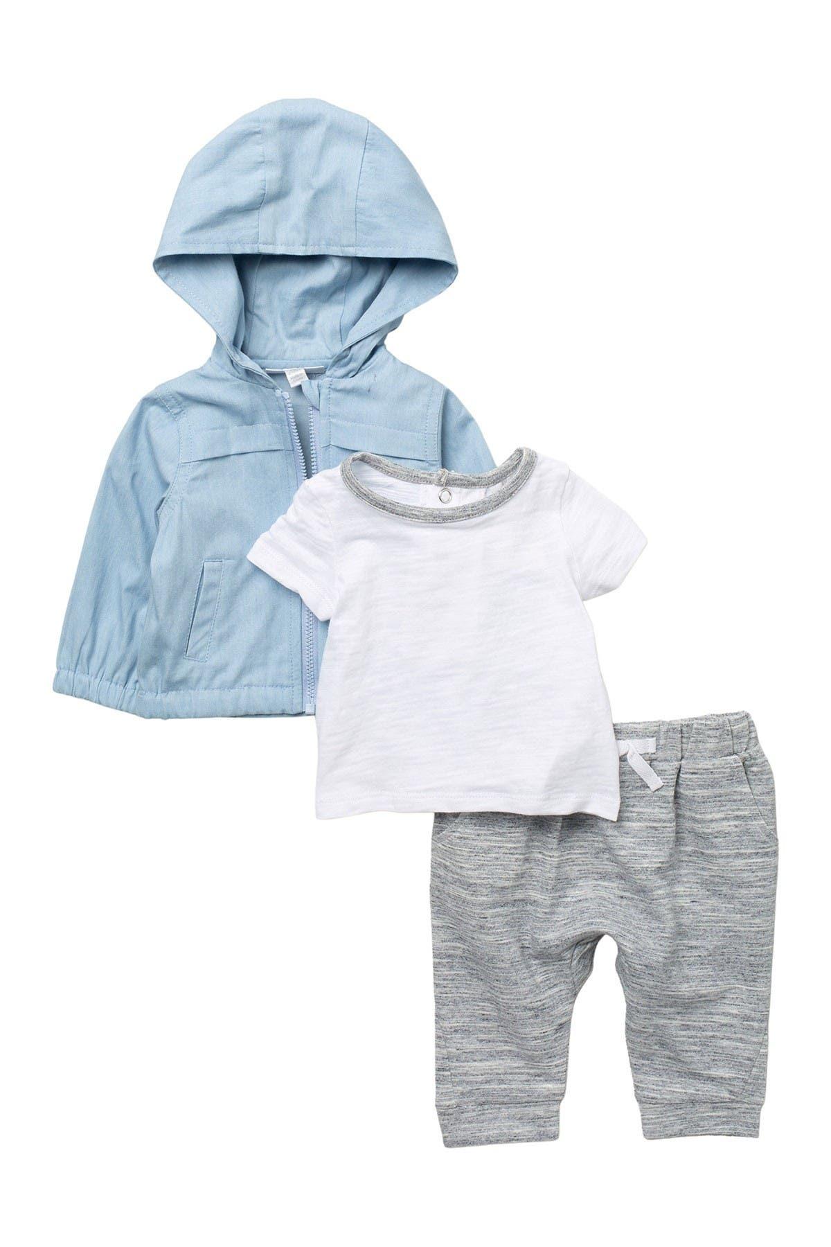Image of Miniclasix Hooded Jacket, T-Shirt, & Joggers Set