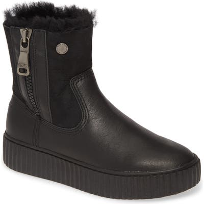 Pajar Caline Genuine Shearling Lined Waterproof Boot, Black