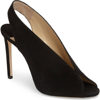Jimmy Choo Shar Peep Toe Slingback Pump, Black