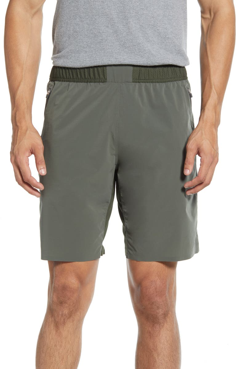 REIGNING CHAMP Hybrid CoolMax<sup>®</sup> Shorts, Main, color, OLIVE