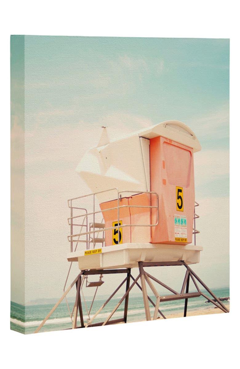 DENY DESIGNS Beach Tower Wall Art, Main, color, MULTI
