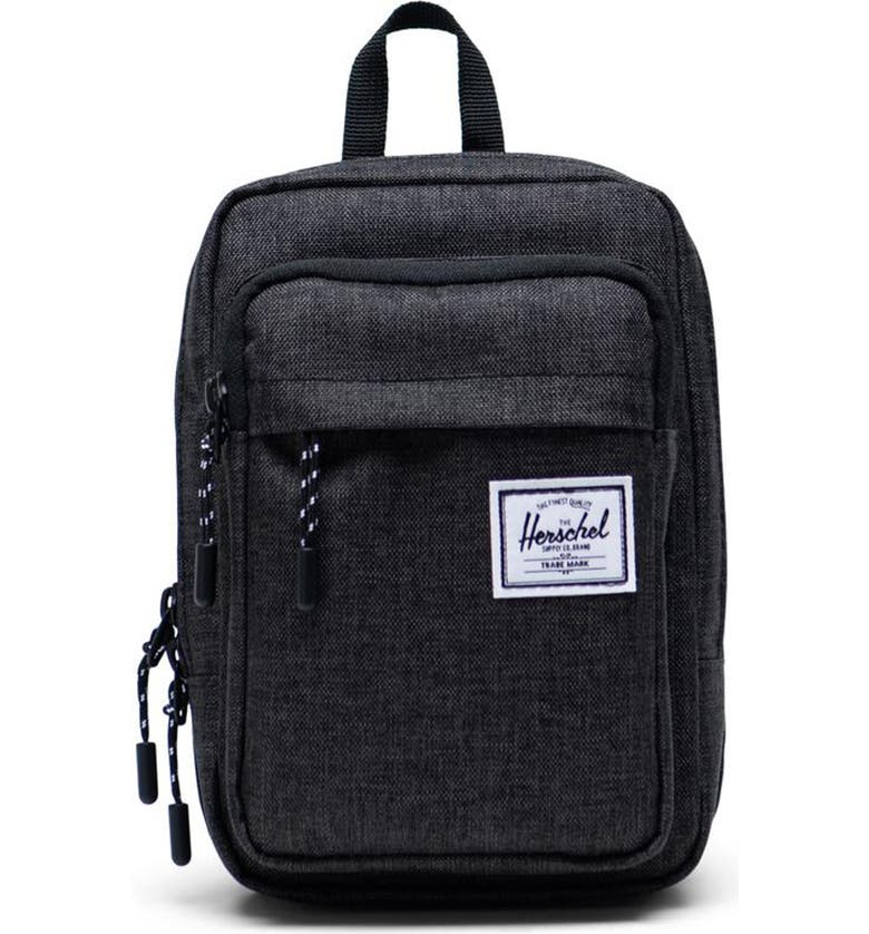 HERSCHEL SUPPLY CO. Large Form Shoulder Bag, Main, color, BLACK CROSSHATCH