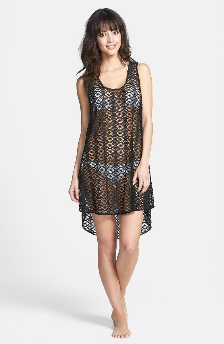 STEVE MADDEN Crochet Cover-Up, Main, color, 002