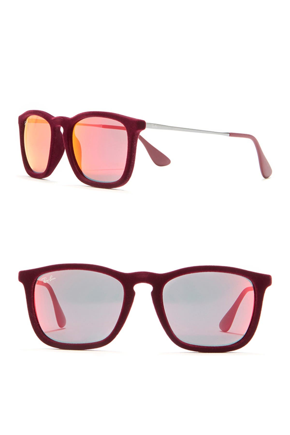 Image of Ray-Ban Youngster Velvet 54mm Square Sunglasses