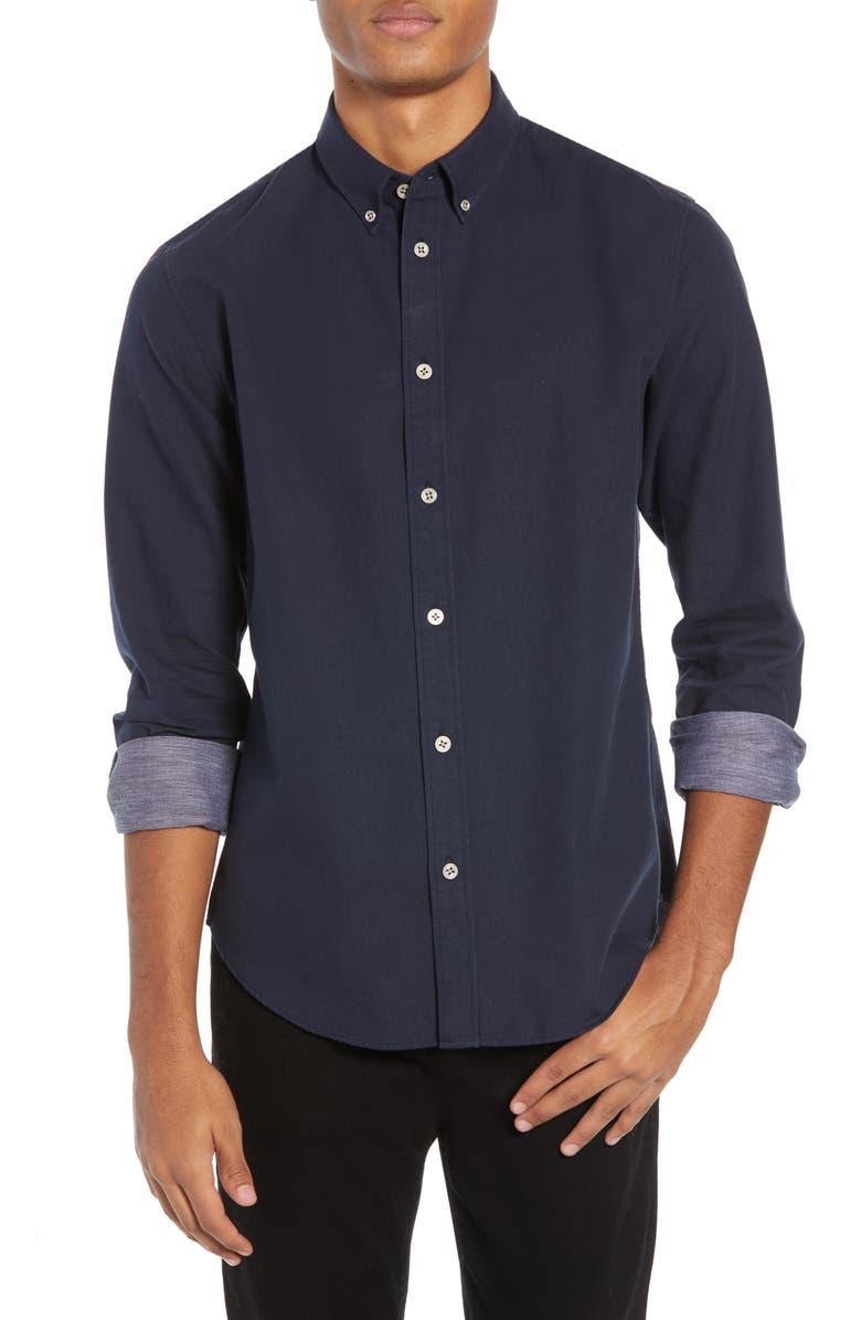 RAG & BONE Fit 2 Tomlin Slim Fit Shirt, Main, color, NAVY/ WHITE