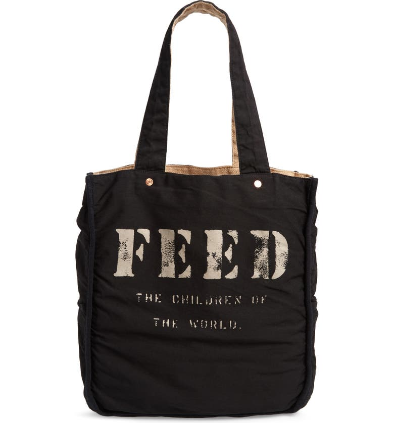 FEED 1 Bag Burlap Tote, Main, color, 001