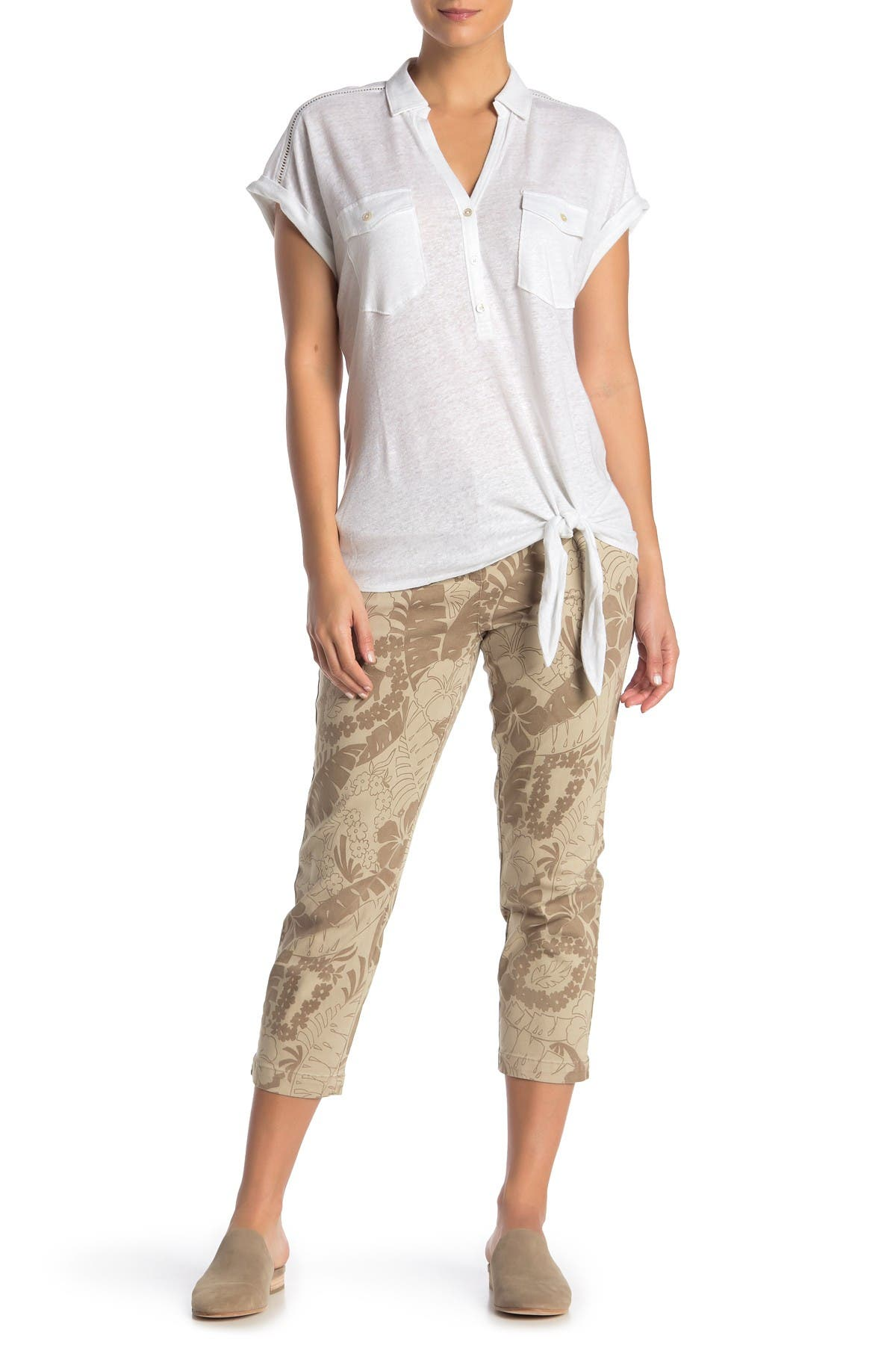 Image of Tommy Bahama Peeky Fronds Cropped Pants