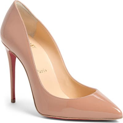 Christian Louboutin Pigalle Follies Pointy Toe Pump - Beige