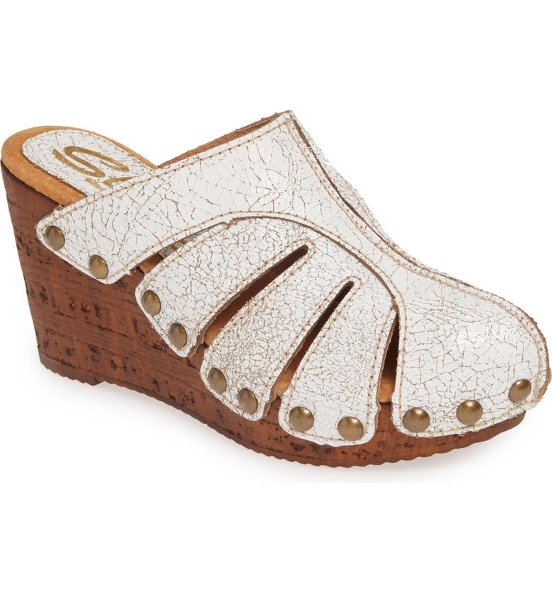 SBICCA Fife Wedge Mule, Main, color, WHITE