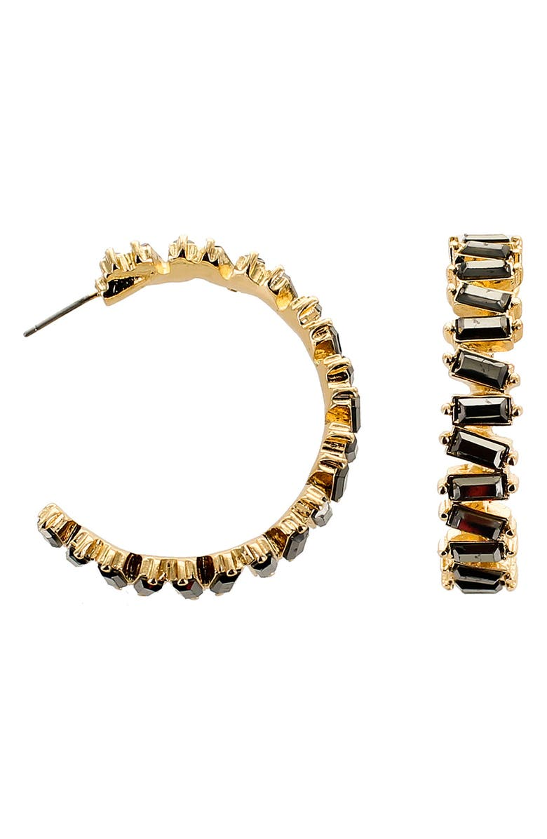 PANACEA Baguette Hoop Earrings, Main, color, 001