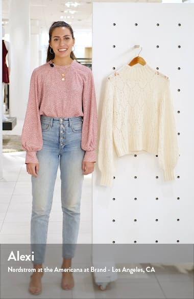 Pointelle Turtleneck Sweater, sales video thumbnail