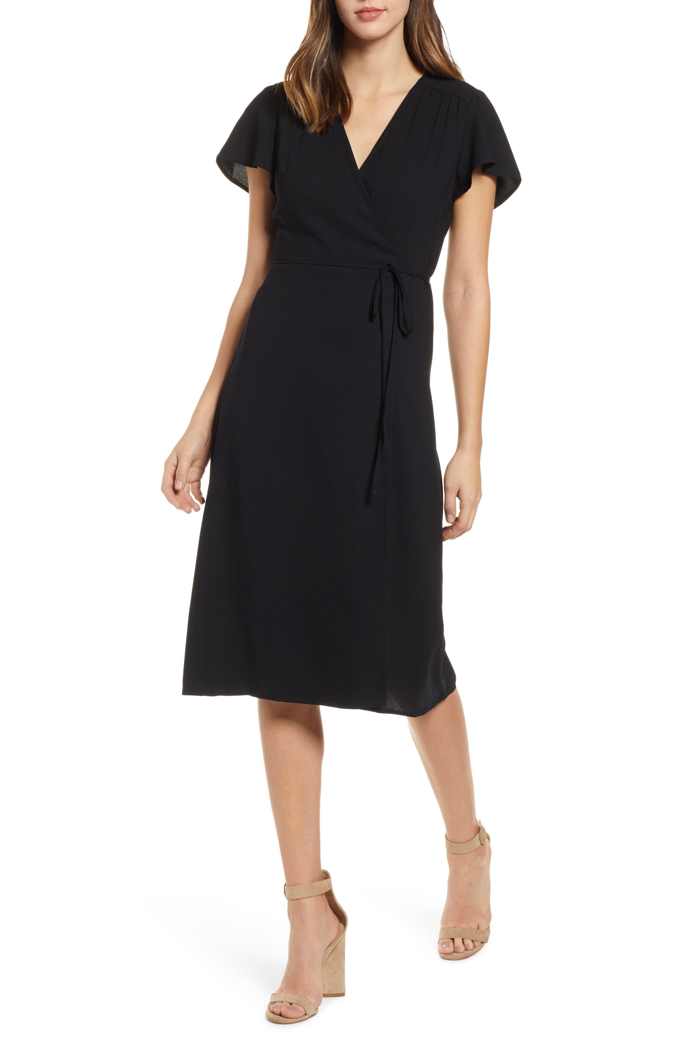 Leith Midi Wrap Dress