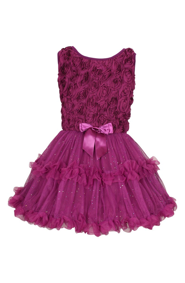 POPATU Rosebud Dress, Main, color, DARK PURPLE