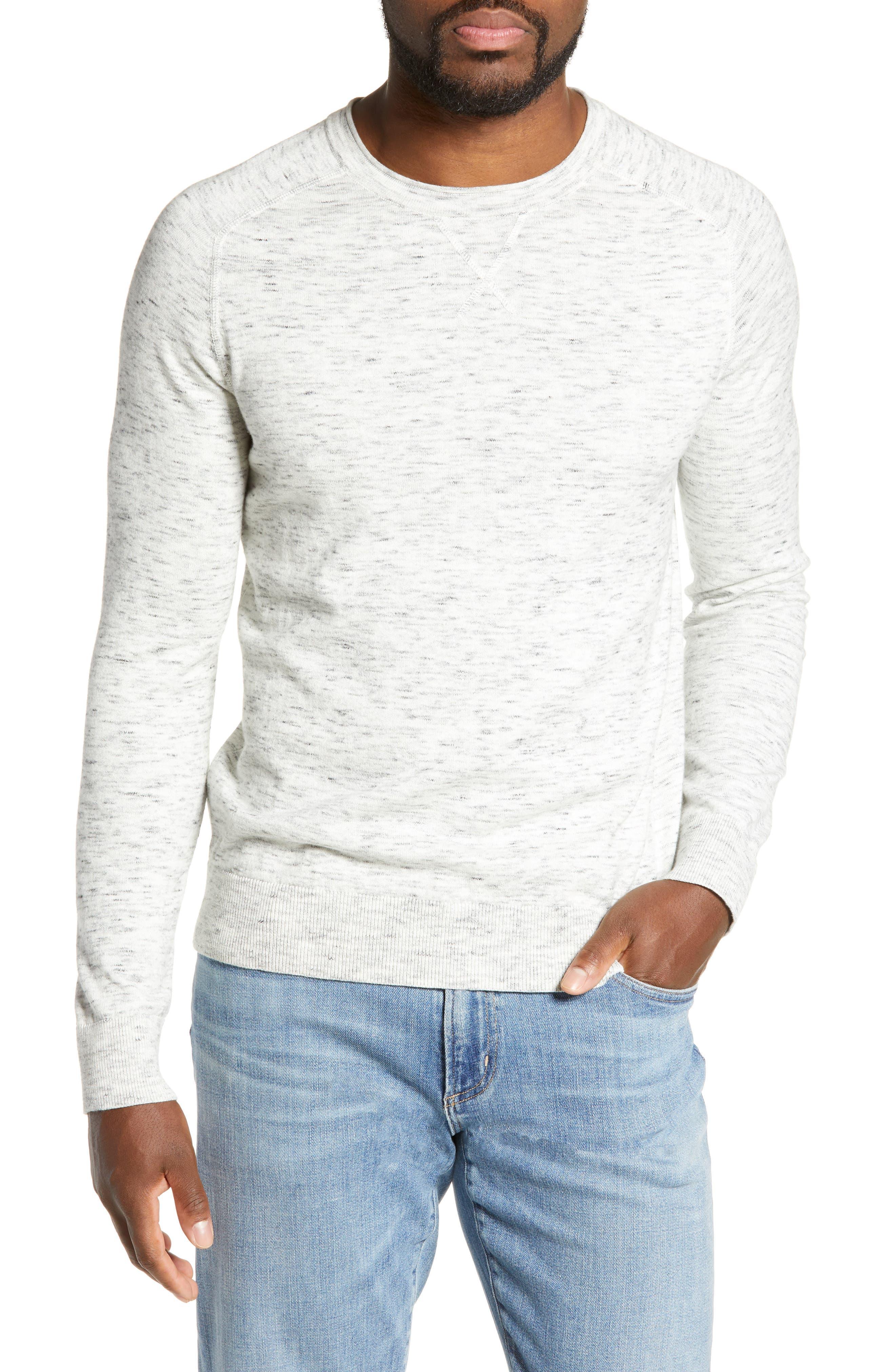 Life/after/denim High Street Slubbed Crewneck Sweater, White