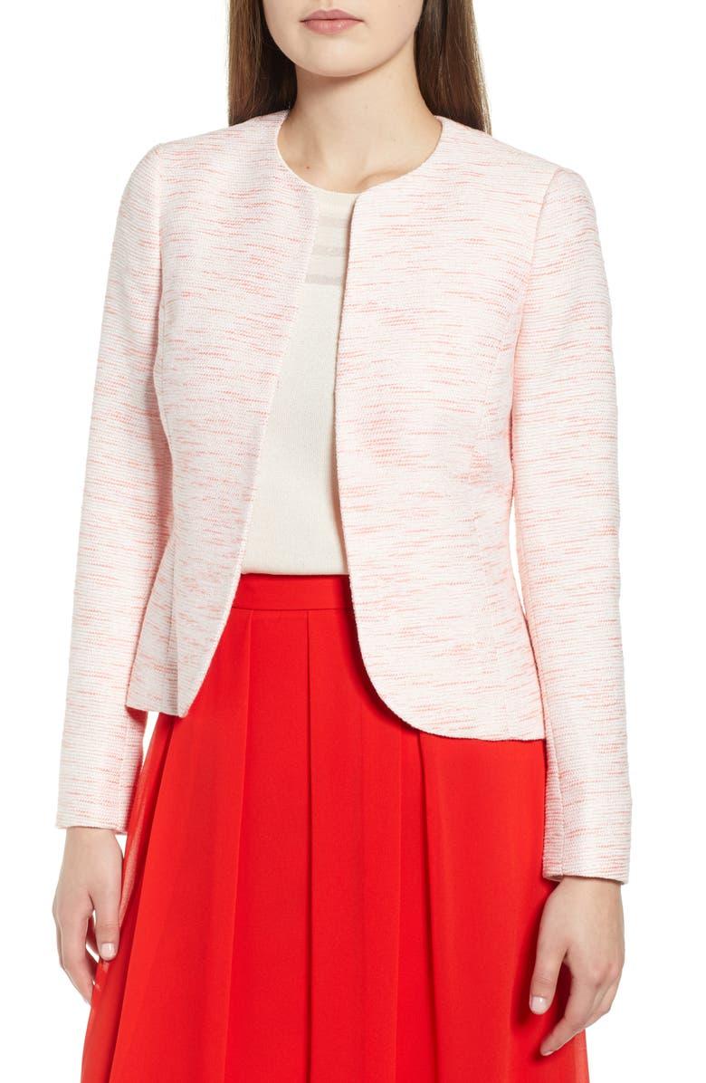 ANNE KLEIN Etched Tweed Short Jacket, Main, color, 680