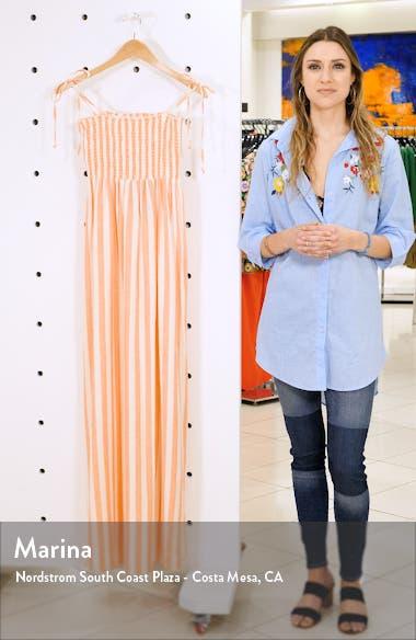 Maggie Stripe Linen Blend Maxi Dress, sales video thumbnail
