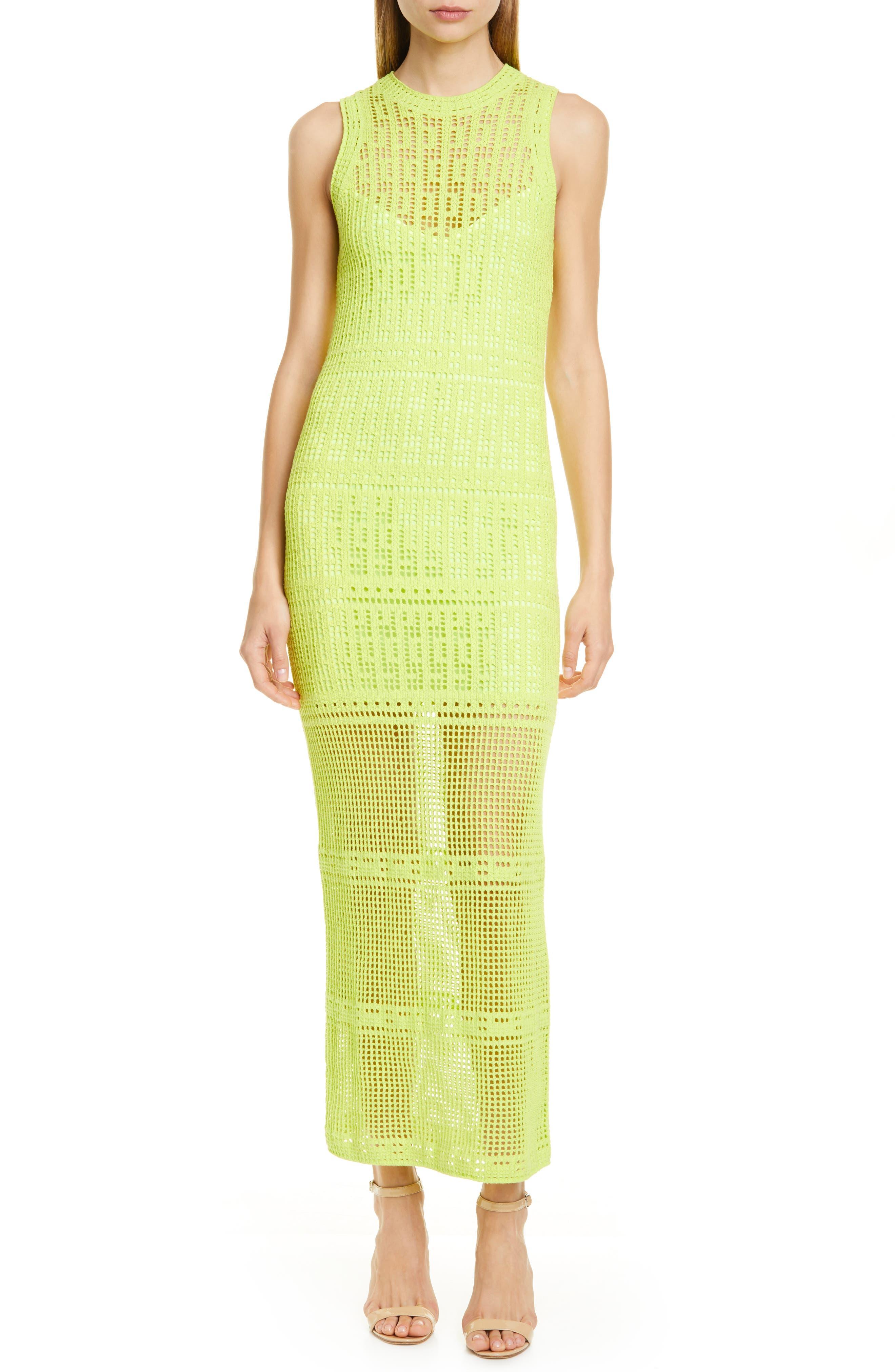 A.l.c. Monaghan Column Sweater Dress, Green