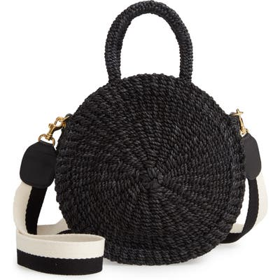 Clare V. Moyen Alice Woven Sisal Bag - Black