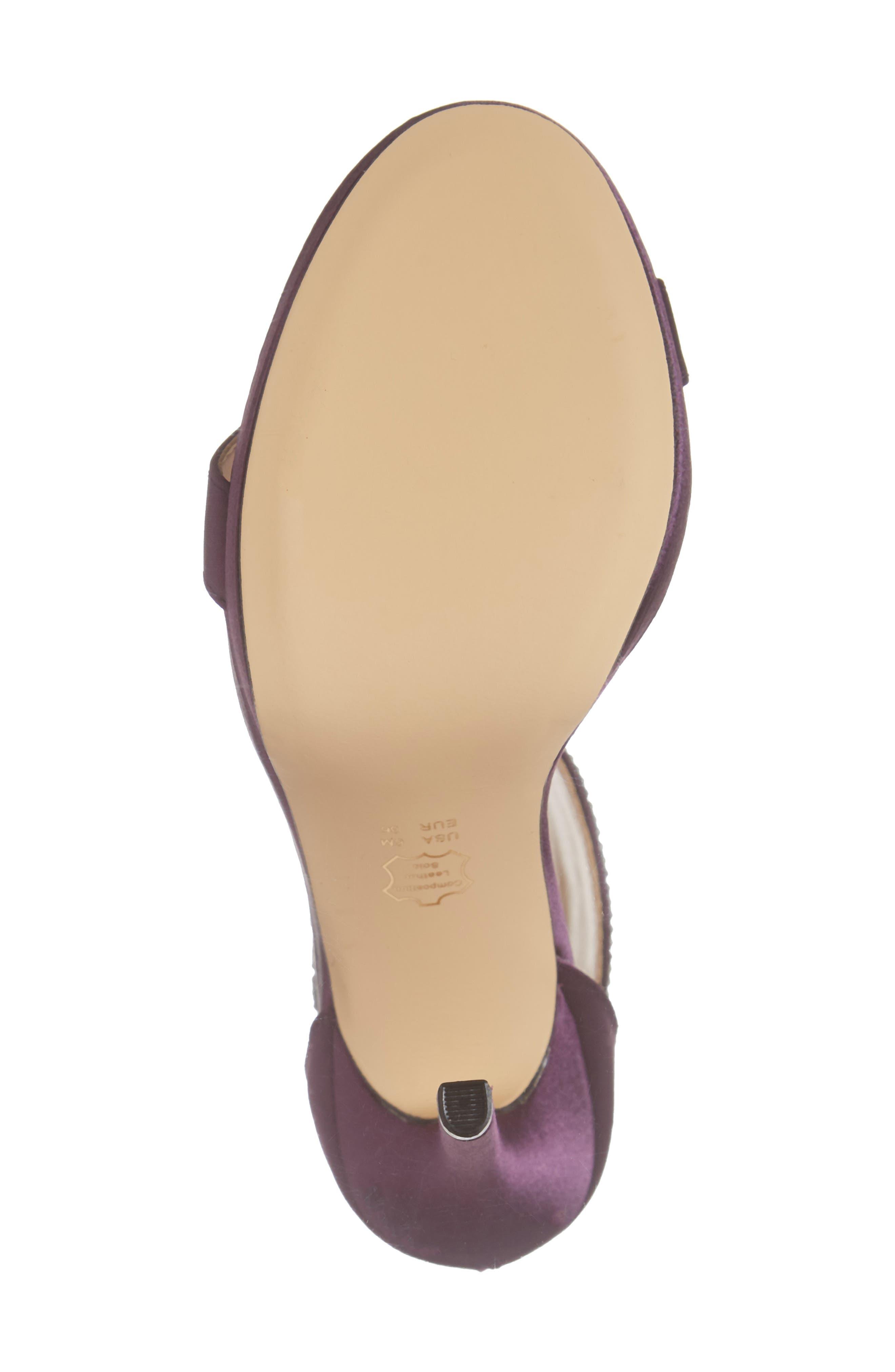 ,                             Fayth Jeweled Ankle Cuff Sandal,                             Alternate thumbnail 6, color,                             EGGPLANT SATIN