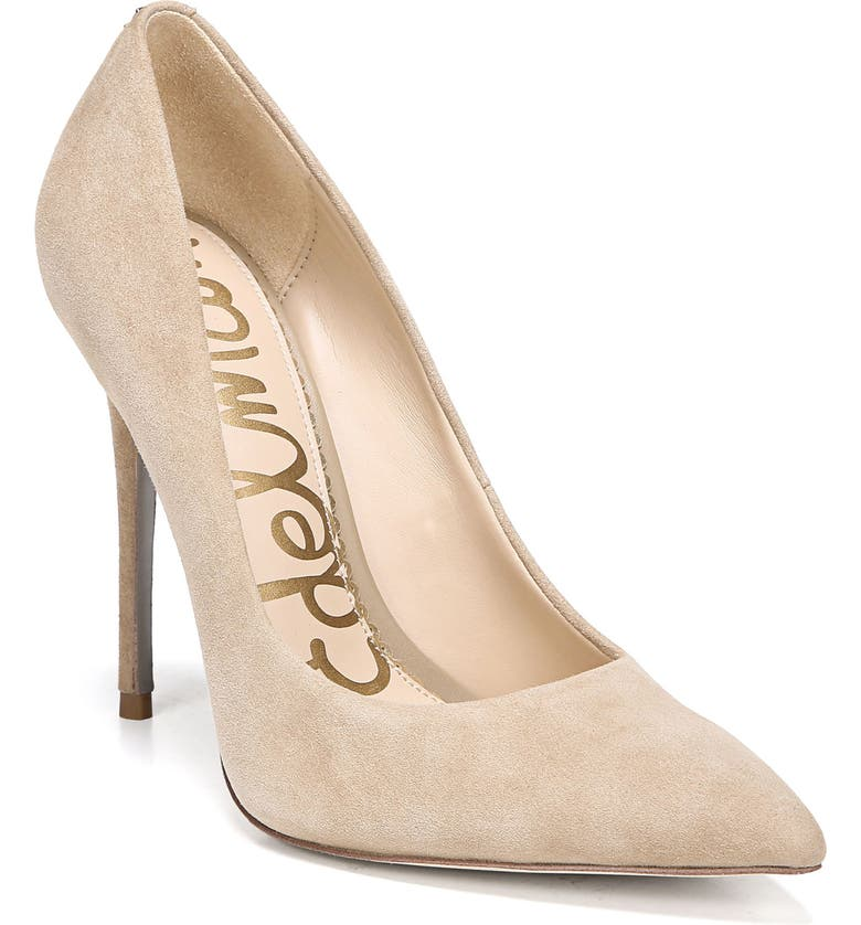 SAM EDELMAN Danna Pointy Toe Pump, Main, color, OATMEAL SUEDE