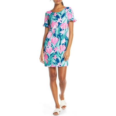 Lilly Pulitzer Mellorie Tie Back Cotton Shift Dress, Pink